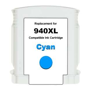 Premium ink cartridge replacement for HP 940XL - high yield cyan - Made in the USA
