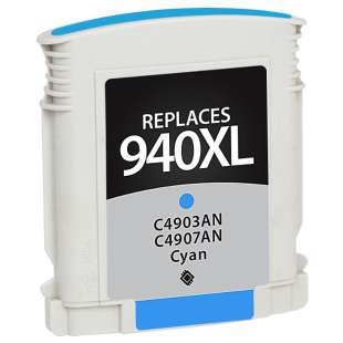 Remanufactured HP C4907AN (HP 940XL ink) high quality inkjet cartridge - high capacity cyan