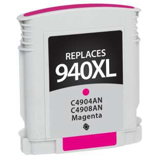 Remanufactured HP C4908AN (HP 940XL ink) high quality inkjet cartridge - high capacity magenta