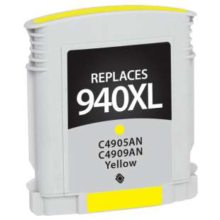 Remanufactured HP C4909AN (HP 940XL ink) high quality inkjet cartridge - high capacity yellow