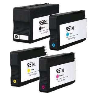 Remanufactured high quality inkjet cartridges Multipack for HP 950XL/951XL - 4 pack (FULL INK LEVEL SHOWN)