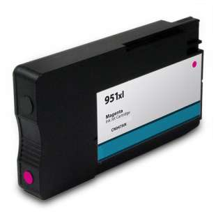Remanufactured HP CN047AN (HP 951XL ink) high quality inkjet cartridge - high capacity magenta (FULL INK LEVEL SHOWN)