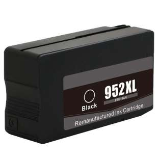 Remanufactured HP F6U19AN (HP 952XL ink) high quality inkjet cartridge - high capacity black