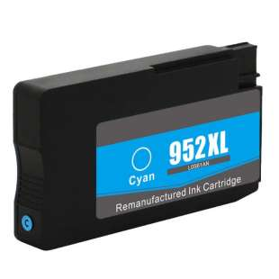Remanufactured HP L0S61AN (HP 952XL ink) high quality inkjet cartridge - high capacity cyan