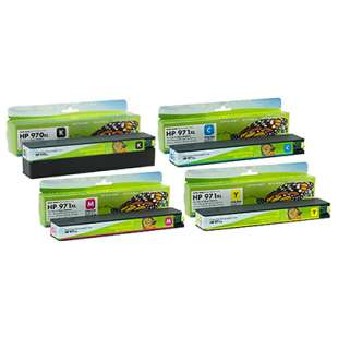 Premium ink cartridge replacement for HP 970XL/971XL - high capacity 4 pack - Made in the USA