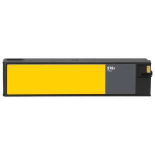 Remanufactured HP L0R07A (HP 976Y ink) high quality inkjet cartridge - extra high capacity yellow