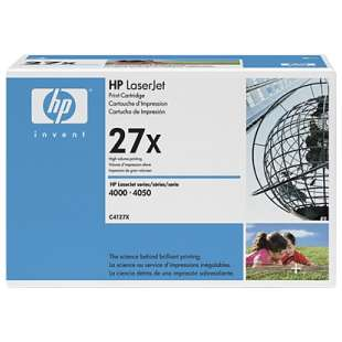 Original Hewlett Packard (HP) C4127X (27X) toner cartridge - black cartridge