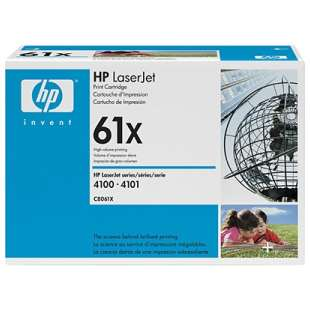 Original Hewlett Packard (HP) C8061X (61X) toner cartridge - high capacity black
