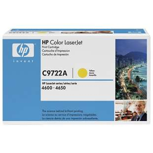 Original Hewlett Packard (HP) C9722A (641A) toner cartridge - yellow