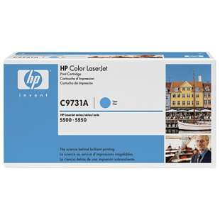 Original Hewlett Packard (HP) C9731A (645A) toner cartridge - cyan