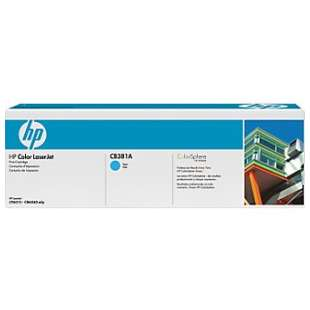 Original Hewlett Packard (HP) CB381A (824A) toner cartridge - cyan