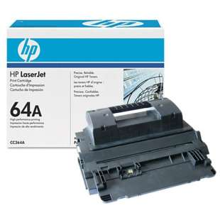 Original Hewlett Packard (HP) CC364A (64A) toner cartridge - black cartridge