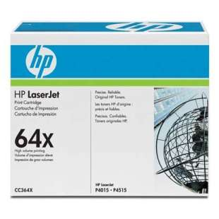Original Hewlett Packard (HP) CC364X (64X) toner cartridge - high capacity black