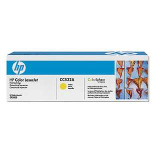 Original Hewlett Packard (HP) CC532A (304A) toner cartridge - yellow
