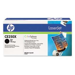 Original Hewlett Packard (HP) CE250X (504X) toner cartridge - high capacity black