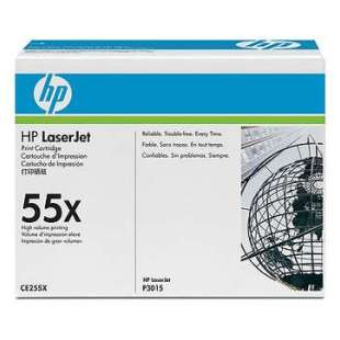 Original Hewlett Packard (HP) CE255X (55X) toner cartridge - high capacity black