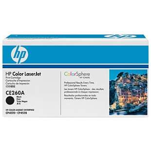 Original Hewlett Packard (HP) CE260A (647A) toner cartridge - black cartridge