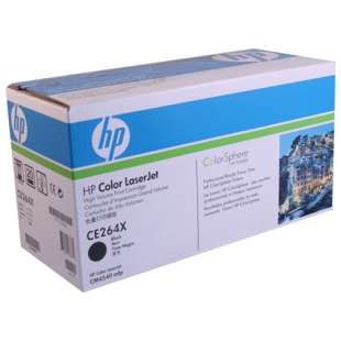 Original Hewlett Packard (HP) CE264X (646X) toner cartridge - high capacity black