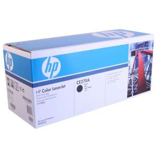 Original Hewlett Packard (HP) CE270A (650A) toner cartridge - black cartridge