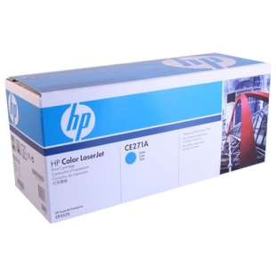 Original Hewlett Packard (HP) CE271A (650A) toner cartridge - cyan