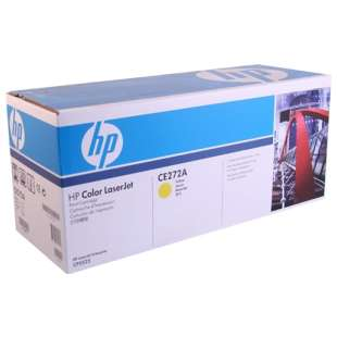 Original Hewlett Packard (HP) CE272A (650A) toner cartridge - yellow