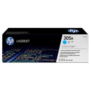 Original Hewlett Packard (HP) CE411A (305A) toner cartridge - cyan