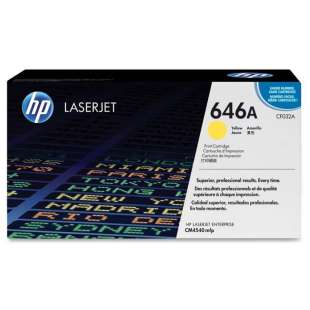 Original Hewlett Packard (HP) CF032A (646A) toner cartridge - yellow