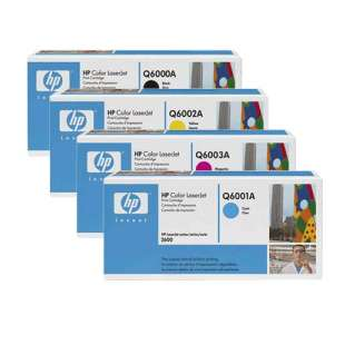 Original Hewlett Packard (HP) Q6000A / Q6001A / Q6002A / Q6003A toner cartridges - 4-pack