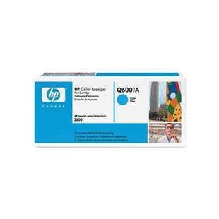 Original Hewlett Packard (HP) Q6001A (124A) toner cartridge - cyan