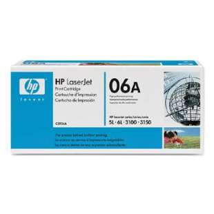 Original Hewlett Packard (HP) C3906A (06A) toner cartridge - black cartridge