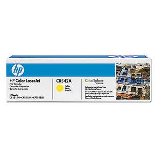 Original Hewlett Packard (HP) CB542A (125A) toner cartridge - yellow