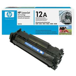 Original Hewlett Packard (HP) Q2612A (12A) toner cartridge - black cartridge