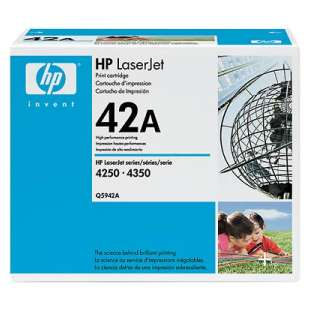 Original Hewlett Packard (HP) Q5942A (42A) toner cartridge - black cartridge