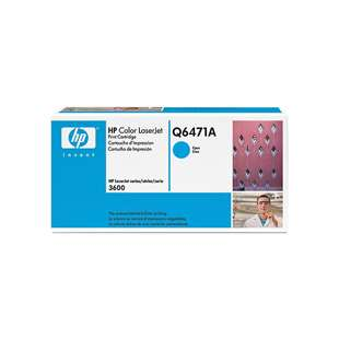 Original Hewlett Packard (HP) Q6471A (502A) toner cartridge - cyan
