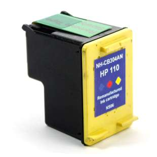 Remanufactured HP CB304AN (HP 110 ink) high quality inkjet cartridge - color cartridge
