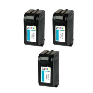 Remanufactured high quality inkjet cartridges Multipack for HP 23 - 3 pack