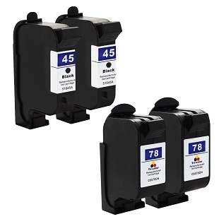 Remanufactured high quality inkjet cartridges Multipack for HP 45/78 - 4 pack