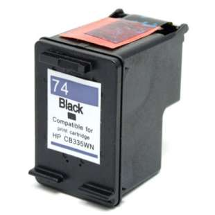 Remanufactured HP CB335WN (HP 74 ink) high quality inkjet cartridge - black cartridge
