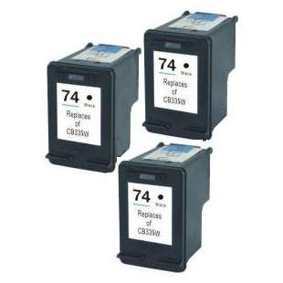 Remanufactured high quality inkjet cartridges Multipack for HP 74 - 3 pack