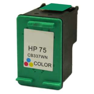 Remanufactured HP CB337WN (HP 75 ink) high quality inkjet cartridge - color cartridge