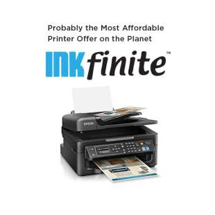 INKfinite Printer Plan: Brand new Epson WF-2630 Printer with $4.99 INKS FOR LIFE (cartridges sold separately)