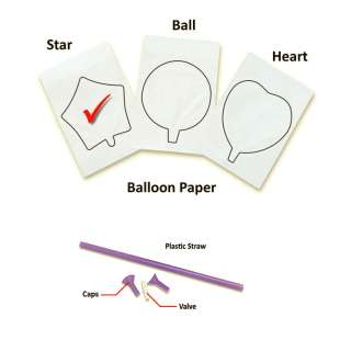 InkFlatables A3 Size Printable Balloon Star (single)