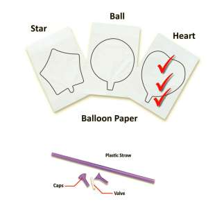 InkFlatables A4 Size Printable Balloon Heart (3 pack)