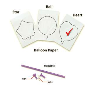 InkFlatables A4 Size Printable Balloon Heart (single)