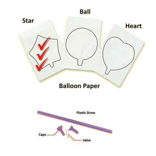 InkFlatables A4 Size Printable Balloon Star (3 pack)