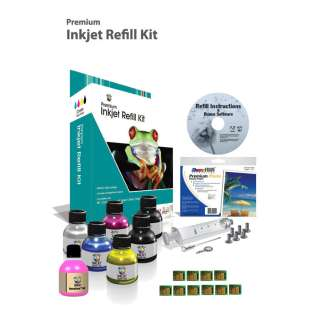 Durafirm Ink Refill Kit guaranteed compatible for the Kodak #10 with Chips