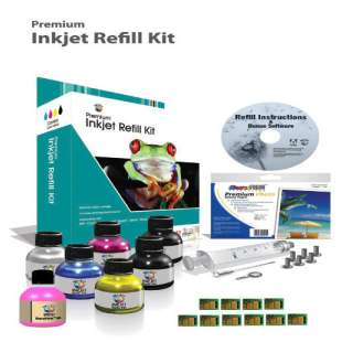 Durafirm Ink Refill Kit guaranteed compatible for the Lexmark 200XL - 9 refills