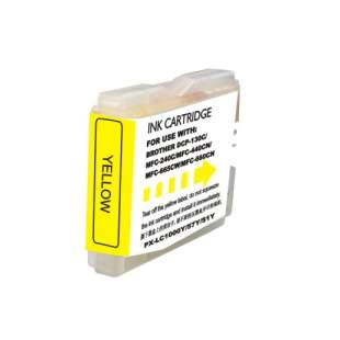 Compatible ink cartridge guaranteed to replace Brother LC51Y - yellow