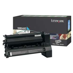 Original Lexmark 10B042C toner cartridge - cyan