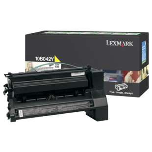 Original Lexmark 10B042Y toner cartridge - yellow
